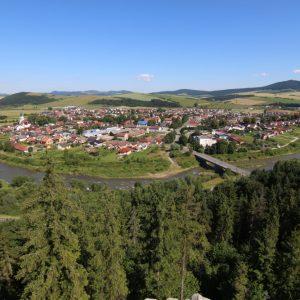 Obec Plaveč a meander rieky Poprad, foto: V. Kĺč